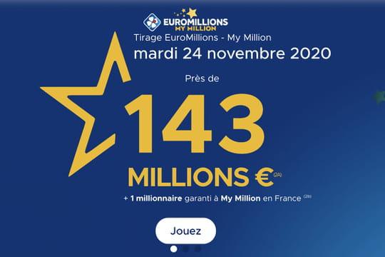 Résultat de l'Euromillions (FDJ): le tirage du mardi 24novembre 2020[EN LIGNE]