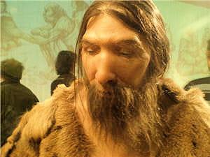 reconstitution de l'homme de néandertal.