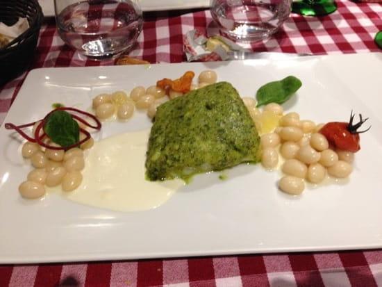 Plat : Le Neptune  - Cabillaud en croûte d'herbes et cocos de paimpol au citron -