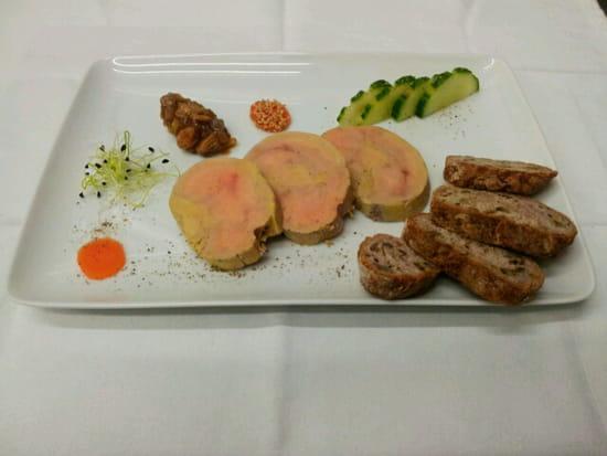 Entrée : Au Bacchus Gourmand  - assiette de foie gras -   © foie gras
