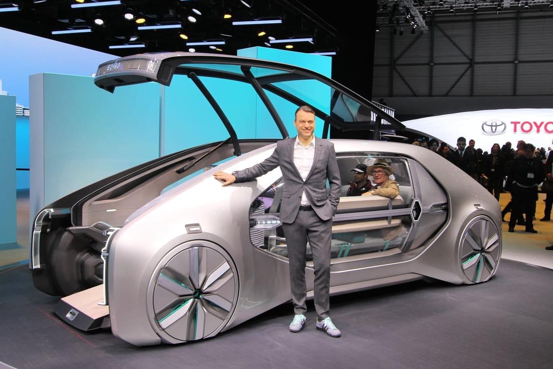 renault ez go l 39 tonnant robot taxi de gen ve en photos infos. Black Bedroom Furniture Sets. Home Design Ideas