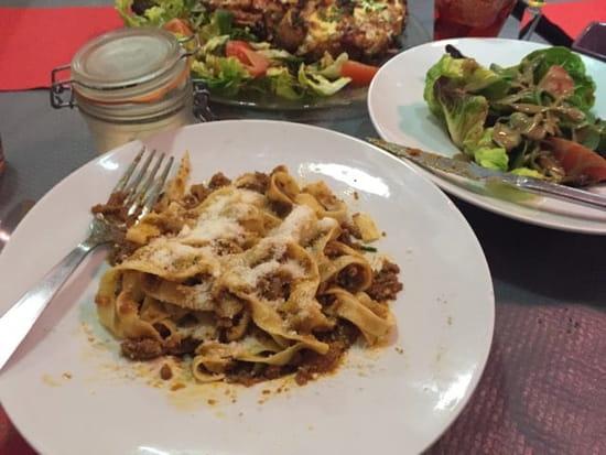 Plat : Pizzéria La Gondole  - Tagliatelles bolognese et salade verte, trop bon !  -