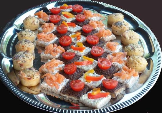 Les délices Icaunais  - éventail de canapés -   © les délices icaunais