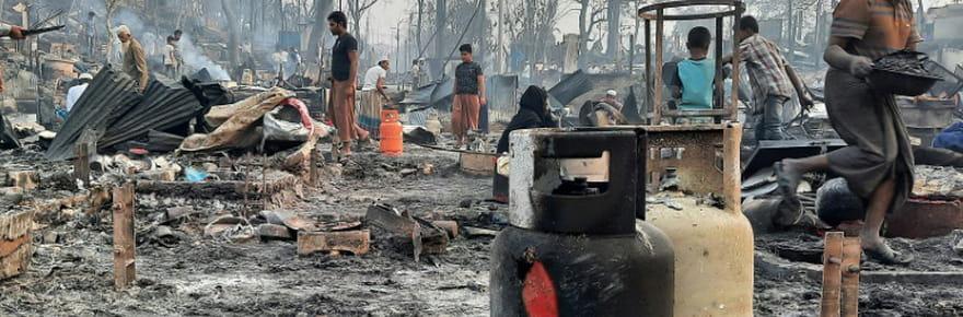 Bangladesh: au moins 15morts, 400disparus et 45.000déplacés après l'incendie d'un camp de réfugiés rohingyas