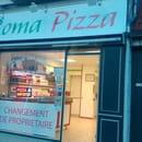 Restaurant : Roma Pizza  - Changement d enseigne et de couleur interieur -