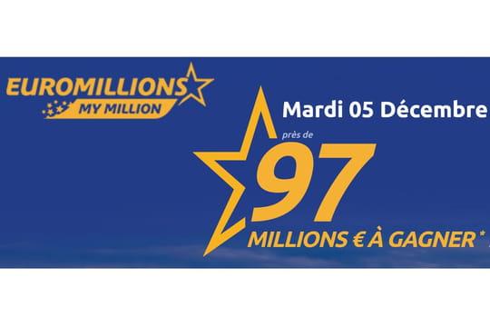 Résultat de l'Euromillion du 5décembre 2017: le tirage a-t-il donné un grand vainqueur?