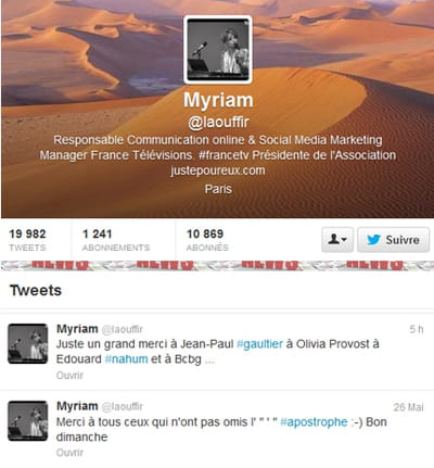myriam laouffir cannes compte twitter