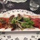 Entrée : La Camargue  - Duo poivrons aubergine  -