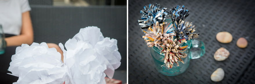 3bouquets de fleurs en papier faciles à réaliser