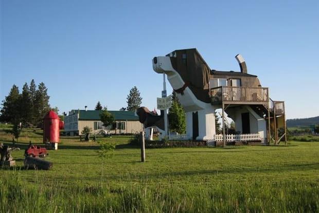 Une maison en forme de chien dans l'Idaho (Etats-Unis)