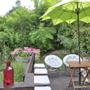 Aux Saveurs des Jardins  - Espace Zen sur la terrasse du restaurant Aux Saveurs des Jardins -   © D Chabanas
