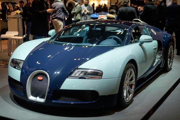 La Bugatti Veyron exposée à Rétromobile