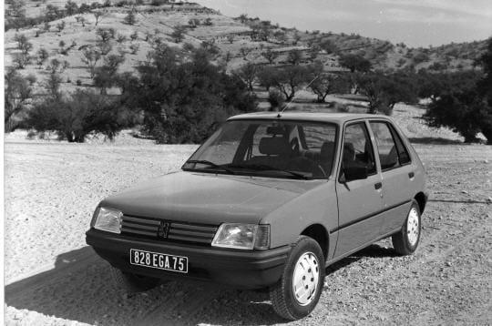 La commercialisation de la Peugeot 205
