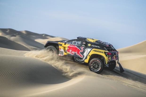 Sébastien Loeb en difficulté dans les dunes