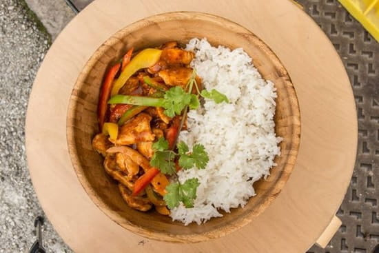 The Placeto Eat  - sauté de poulet aux legumes et soja -