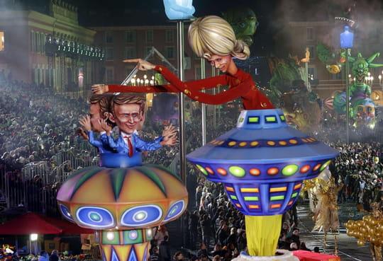 Carnaval de Nice2018: Macron, Pesquet, le défilé des chars en images