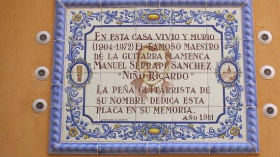 Ajoblanco  - La plaque conmemorative du Niño Ricardo a la porte du hotel Casa Del Maestro -