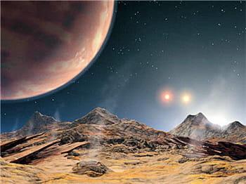 le télescope keck i a permis l'observation de cette exoplanète.
