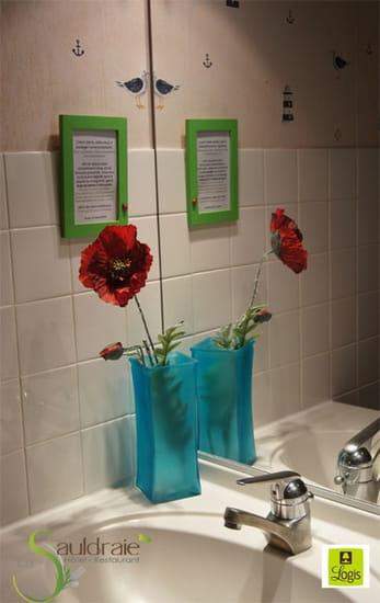 La Sauldraie  - Détail d'une salle de bain de l'hotel La Sauldraie à Salbris -