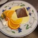 Dessert : Au Lion d'Or  - Pyramide de chocolat et caramel -