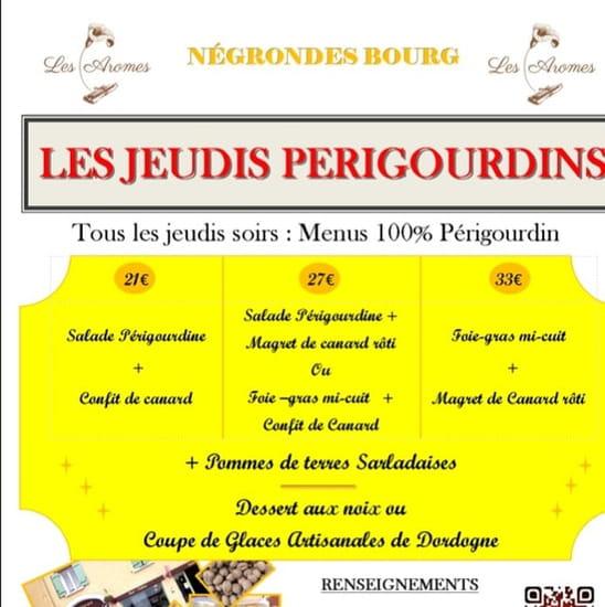Restaurant : Les Aromes  - Les jeudis soirs du1 mai au 1 septembre  -