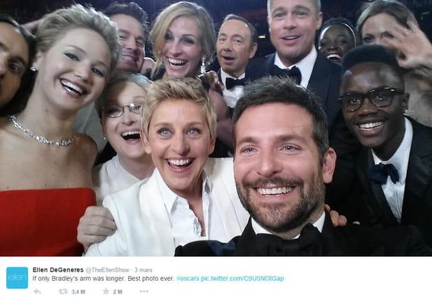 Le selfie des Oscars d'Ellen DeGeneres
