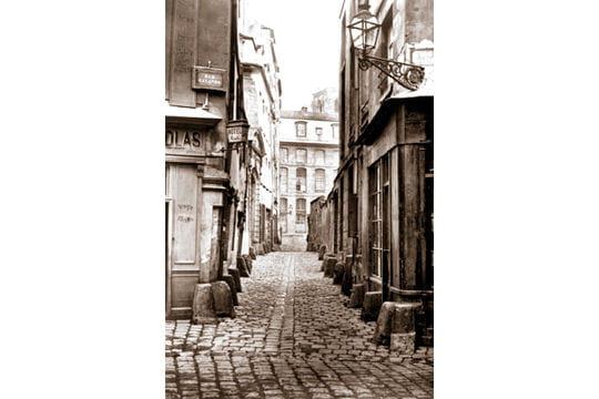La rue Saint-Julien-Le-Pauvre avant