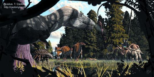 Cohabitation de dinosaures