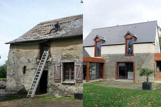 Avant apr s 30 maisons r nov es par les lecteurs for Renovation maison ancienne avant apres