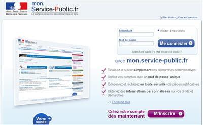 780cedf702c Copie d écran du site Mon service public © Direction générale de la  modernisation de l Etat