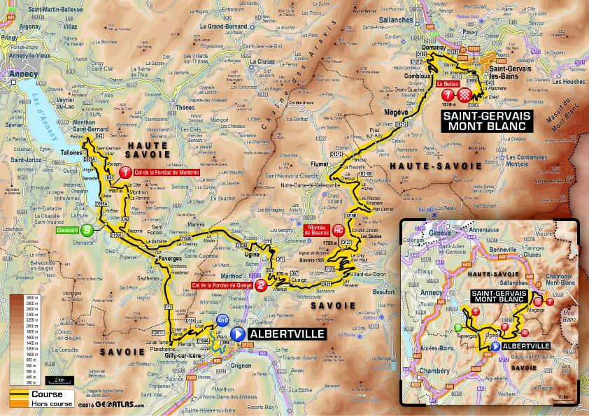 etape du jour carte Etape du jour : le profil de l'étape 19 et la carte du parcours