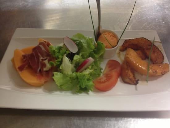 Bistrot Jul  - melon en deux cuissons, sorbet poivron -   © jul