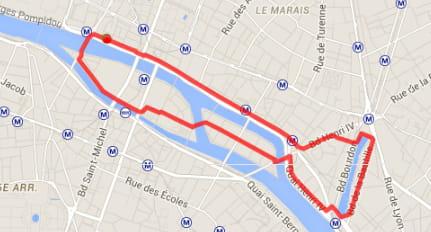 Paris : les quais de Seine (5,5km)