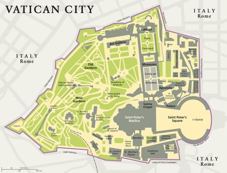 plan des musées du Vatican