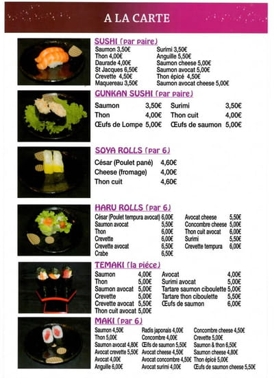 Kinoko Sushi  - Menu Page 10 -