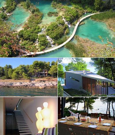 maison d 39 architecte au bord de l 39 eau en croatie. Black Bedroom Furniture Sets. Home Design Ideas