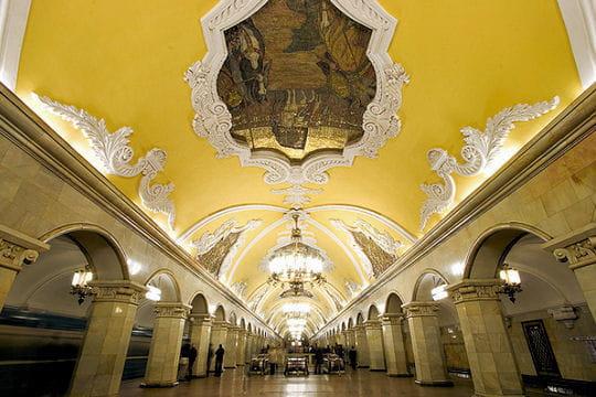 Plafonds peints à la station Komsomolskaya