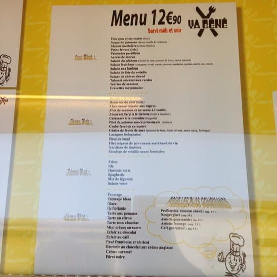 Restaurant : Va Bene  - Menu -