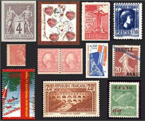 40 timbres erronés classés du plus cher au moins cher.
