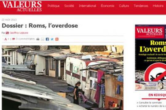 Roms : le ras-le-bol de Valeurs Actuelles fait scandale