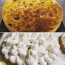 Brunch : Le Petit Montmartre  - Tarte brocoli / fourme d'ambert et tarte citron -   © oui