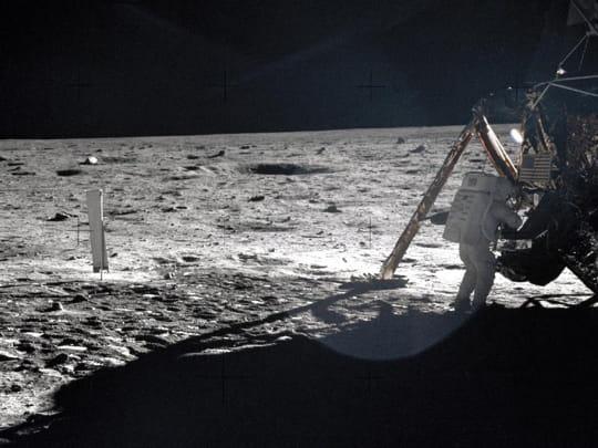 Une des rares photos de Neil Armstrong