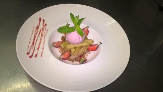 , Dessert : Chez Laeticia  - crumble de speculos -   © fgv