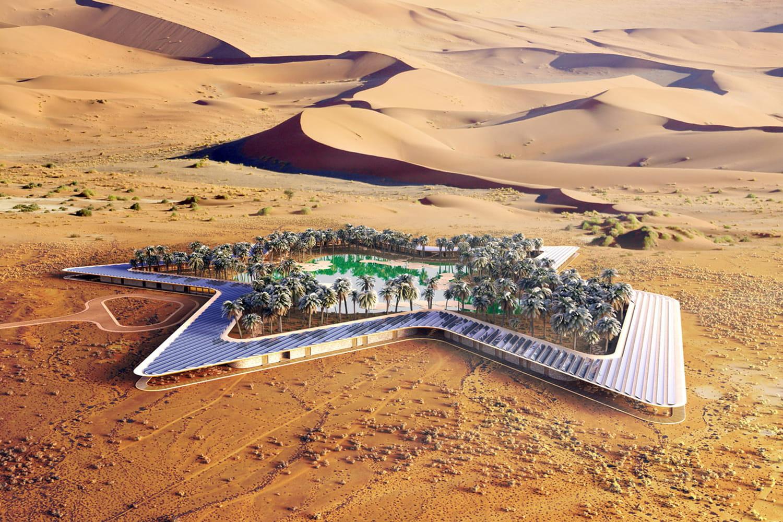Oasis Eco Resort: un hôtel fou dans le désert