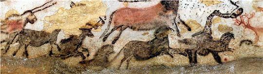 Chevaux noirs Lascaux