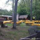 Croix d'Augas  - La terrasse sur l'avant du restaurant -