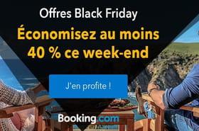 Booking: des milliers d'hébergements à -40% pour le Black Friday