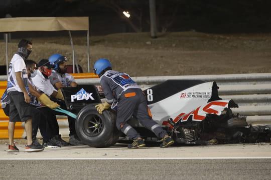 Romain Grosjean: des images inédites de son accident