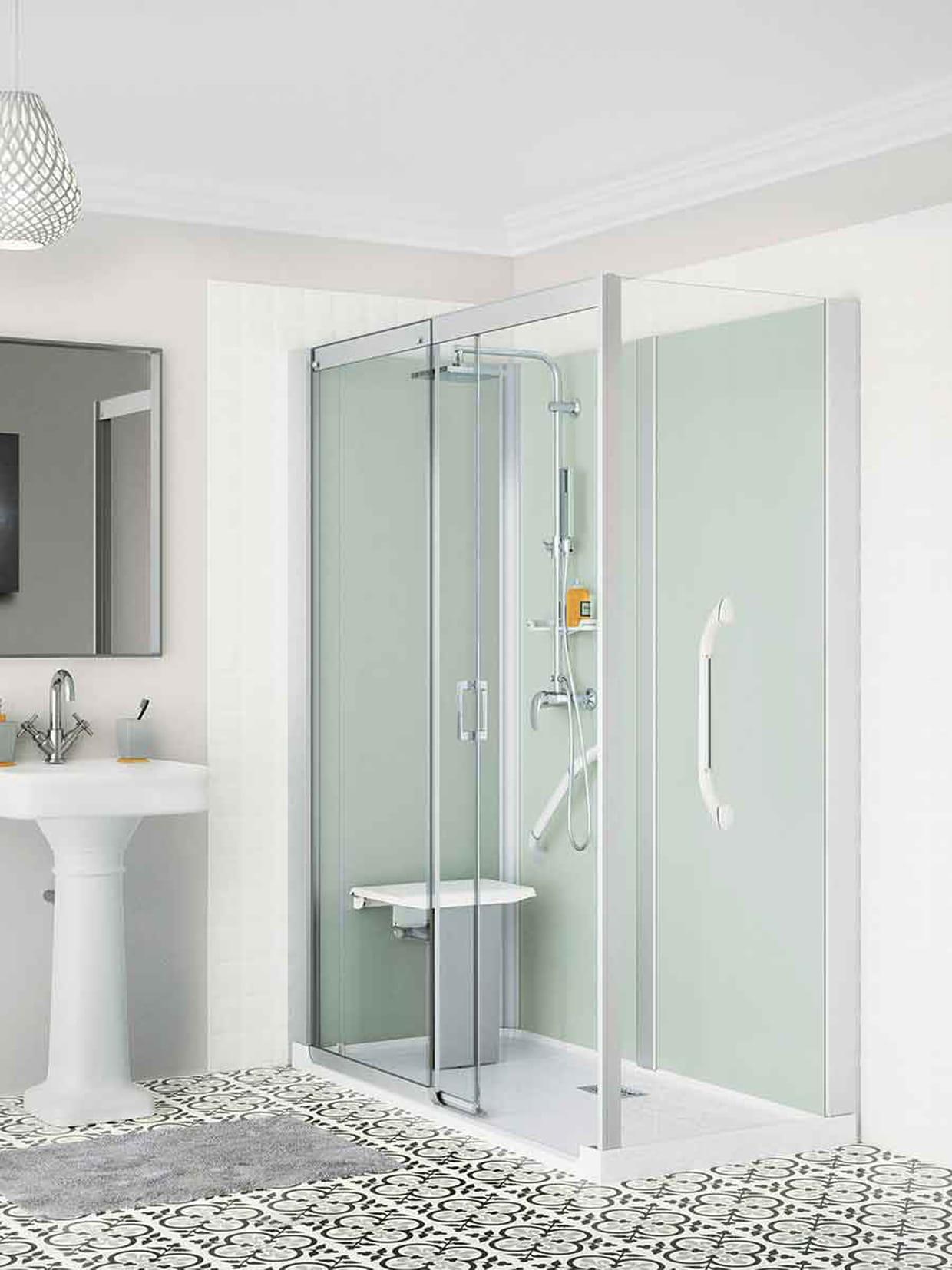 une douche l 39 italienne pour remplacer sa vieille baignoire. Black Bedroom Furniture Sets. Home Design Ideas