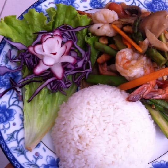 Plat : Sawasdee  - Crevettes sauté -